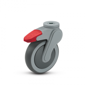 Avant Hollow Kingpin Swivel Caster with Total Lock